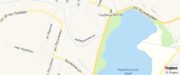 Набережная улица на карте Карабаша с номерами домов
