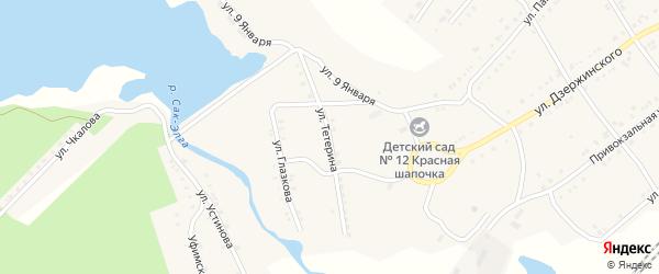 Улица Тетерина на карте Карабаша с номерами домов