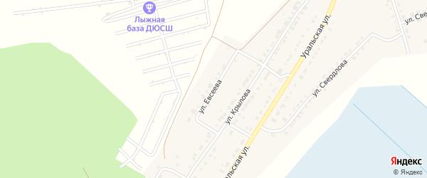 Улица Евсеева на карте Верхнего Уфалея с номерами домов