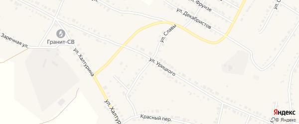 Улица Славы на карте Верхнего Уфалея с номерами домов