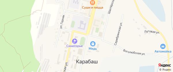 Улица Серова на карте Карабаша с номерами домов