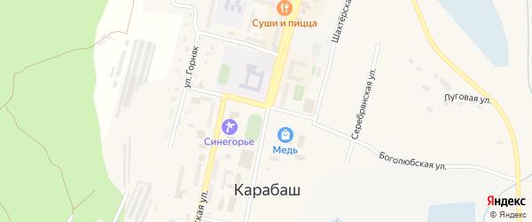 Сад Чайка-4 ДНТ на карте Карабаша с номерами домов