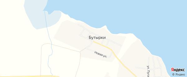 Карта деревни Бутырки в Челябинской области с улицами и номерами домов