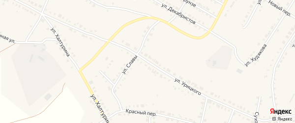 Улица Урицкого на карте Верхнего Уфалея с номерами домов