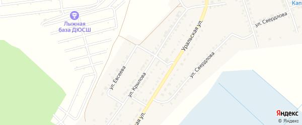 Улица Крылова на карте Верхнего Уфалея с номерами домов