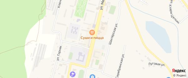 Улица Металлургов на карте Карабаша с номерами домов