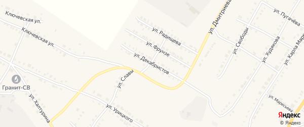 Улица Декабристов на карте Верхнего Уфалея с номерами домов