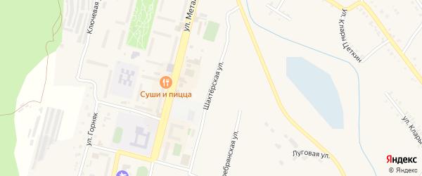 Шахтерская улица на карте Карабаша с номерами домов