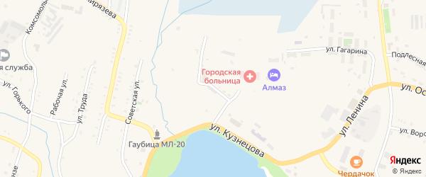 Лесная улица на карте Карабаша с номерами домов