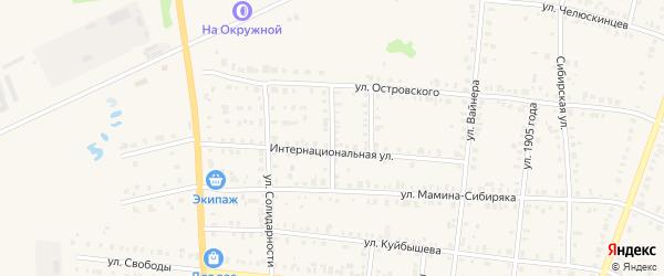 Переулок Гайдара на карте Невьянска с номерами домов