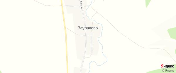 Карта деревни Зауралово в Челябинской области с улицами и номерами домов