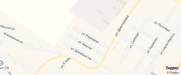 Улица Радищева на карте Верхнего Уфалея с номерами домов