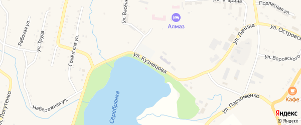 Улица Кузнецова на карте Карабаша с номерами домов