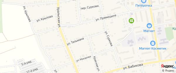 Красная улица на карте Верхнего Уфалея с номерами домов