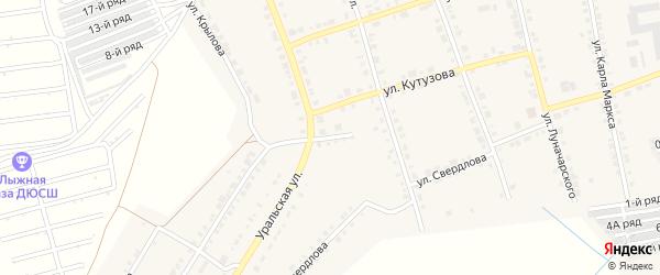 Уральский переулок на карте Верхнего Уфалея с номерами домов