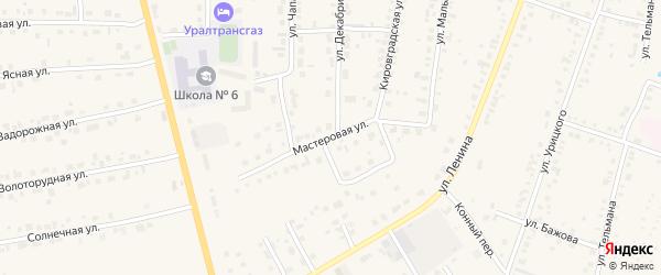 Мастеровая улица на карте Невьянска с номерами домов