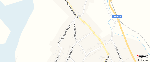 Улица Пугачева на карте Карабаша с номерами домов