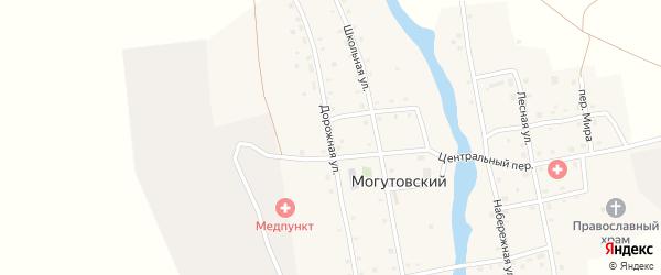 Дорожная улица на карте Могутовского поселка с номерами домов