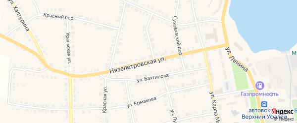 Нязепетровская улица на карте Верхнего Уфалея с номерами домов