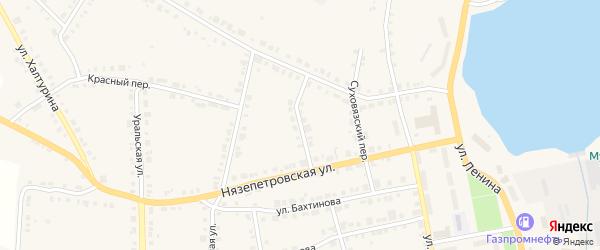 Нязепетровский тракт на карте Верхнего Уфалея с номерами домов