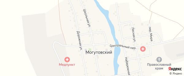 Школьная улица на карте Могутовского поселка с номерами домов