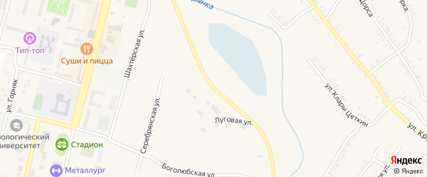 Луговая улица на карте Карабаша с номерами домов