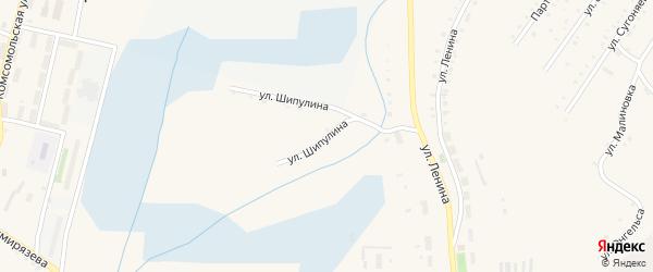 Улица Шипулина на карте Карабаша с номерами домов