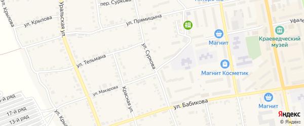 Улица Суркова на карте Верхнего Уфалея с номерами домов