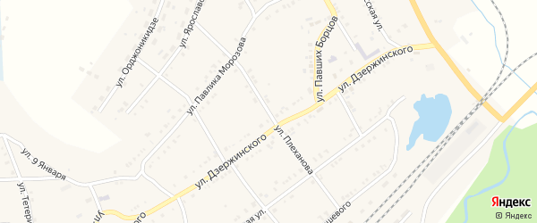 Улица Плеханова на карте Карабаша с номерами домов