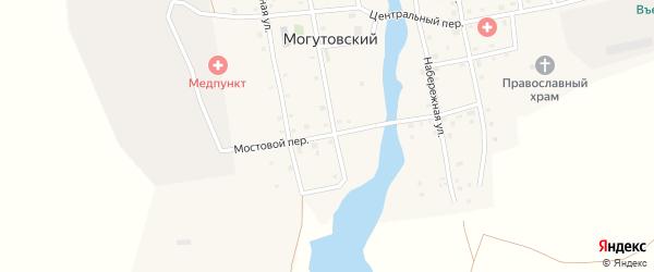 Мостовой переулок на карте Могутовского поселка с номерами домов