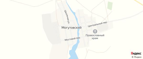 Карта Могутовского поселка в Челябинской области с улицами и номерами домов