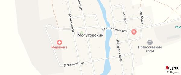 Почтовый переулок на карте Могутовского поселка с номерами домов