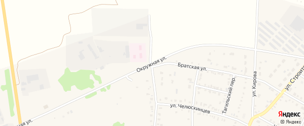 Окружная улица на карте Невьянска с номерами домов