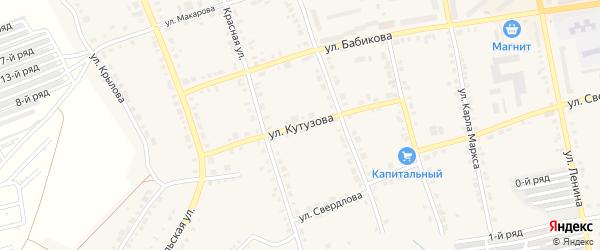 Улица Кутузова на карте Верхнего Уфалея с номерами домов
