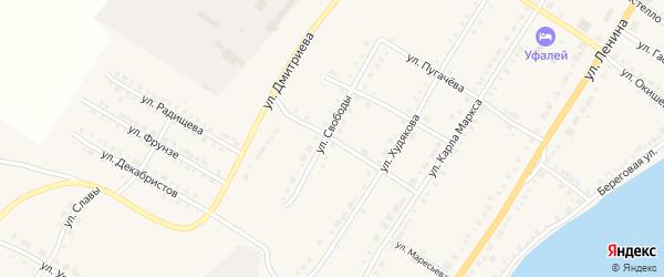 Новый переулок на карте Верхнего Уфалея с номерами домов