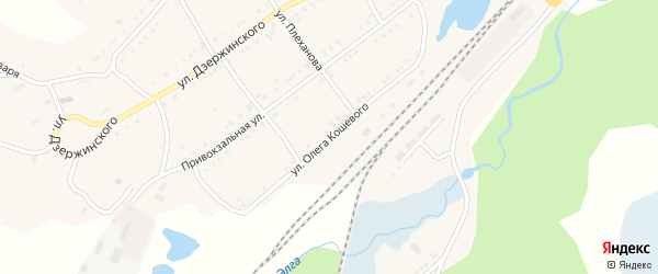 Улица Олега Кошевого на карте Карабаша с номерами домов