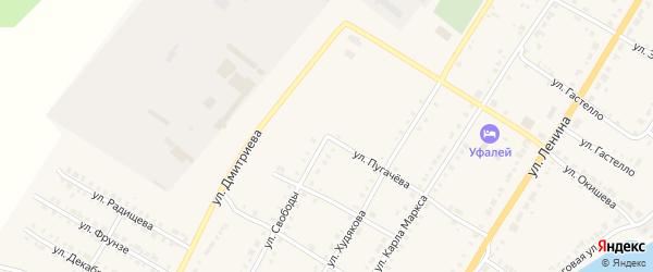 Улица Свободы на карте Верхнего Уфалея с номерами домов