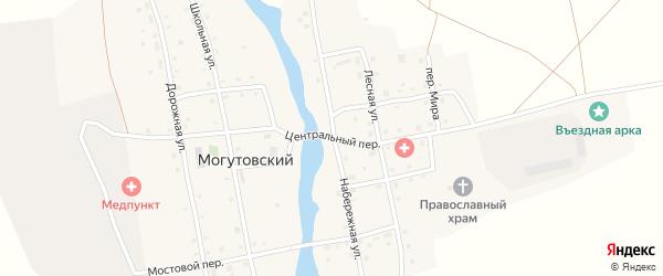 Центральный переулок на карте Могутовского поселка с номерами домов