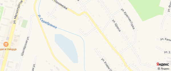 Улица Клары Цеткин на карте Карабаша с номерами домов