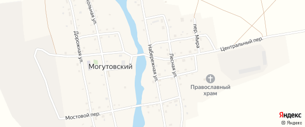 Набережная улица на карте Могутовского поселка с номерами домов