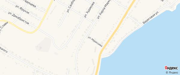 Улица Маресьева на карте Верхнего Уфалея с номерами домов