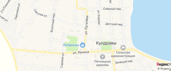 Улица Пугачева на карте села Кундрав с номерами домов