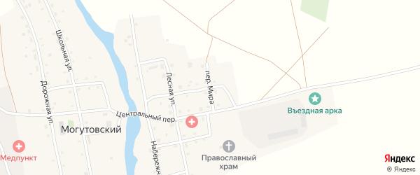 Переулок Мира на карте Могутовского поселка с номерами домов