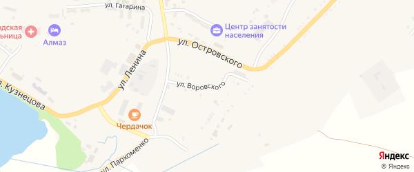 Улица Воровского на карте Карабаша с номерами домов