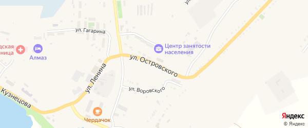 Улица Островского на карте Карабаша с номерами домов