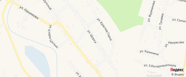 Улица Щорса на карте Карабаша с номерами домов