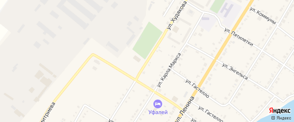 Улица Худякова на карте Верхнего Уфалея с номерами домов