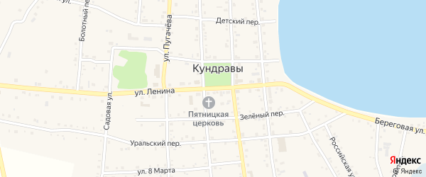 Плановая 2-я улица на карте села Кундрав с номерами домов