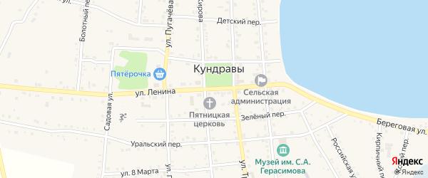 Садовый переулок на карте села Кундрав с номерами домов