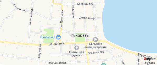 Школьный переулок на карте села Кундрав с номерами домов